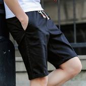 潮流沙滩裤 修身 韩版 男纯色宽松休闲短裤 衩5分裤 大裤 夏季五分裤
