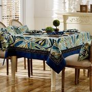美式乡村餐桌布布艺复古正方形八仙桌桌布家用欧式轻奢长方形台布