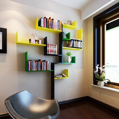 特价墙上置物架创意隔板背景墙树形装饰架子造型书架壁挂L型隔板牌子口碑评测