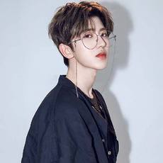 Cai Xukun with the chain glasses female Korean version of the tide ins retro round frame Harajuku style ulzzang myopia frame male