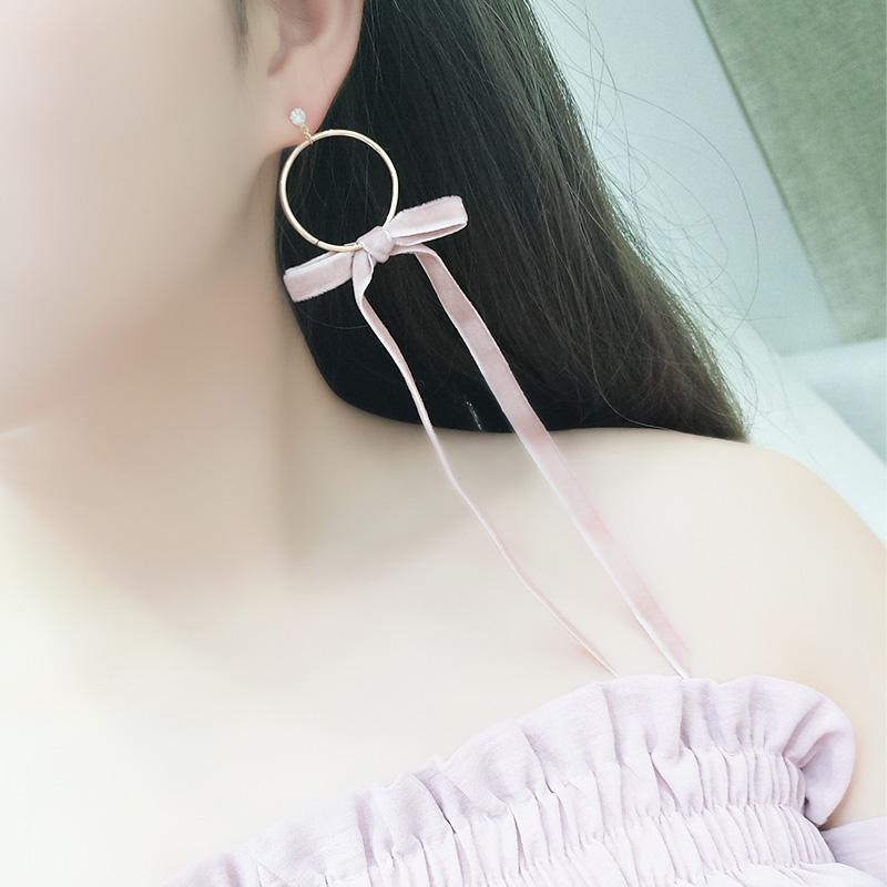 蝴蝶无耳洞大耳环