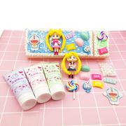 奶油胶手机壳DIY材料包配件套装 美少女奶油胶文具盒叮当猫珍珠