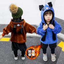 女宝宝秋冬装洋气套装1一3岁韩版潮小儿童金丝绒加绒加厚两件套