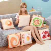 Simulation Plush Toys Toast Sliced ​​Bread Pillow Air Conditioner Simulated Bread Pillow Quilt