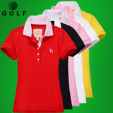 19 Golf Ladies Short Sleeve T-shirt Summer Fashion Baitao Sports Leisure Top GOLF Women's Breathable Clothing