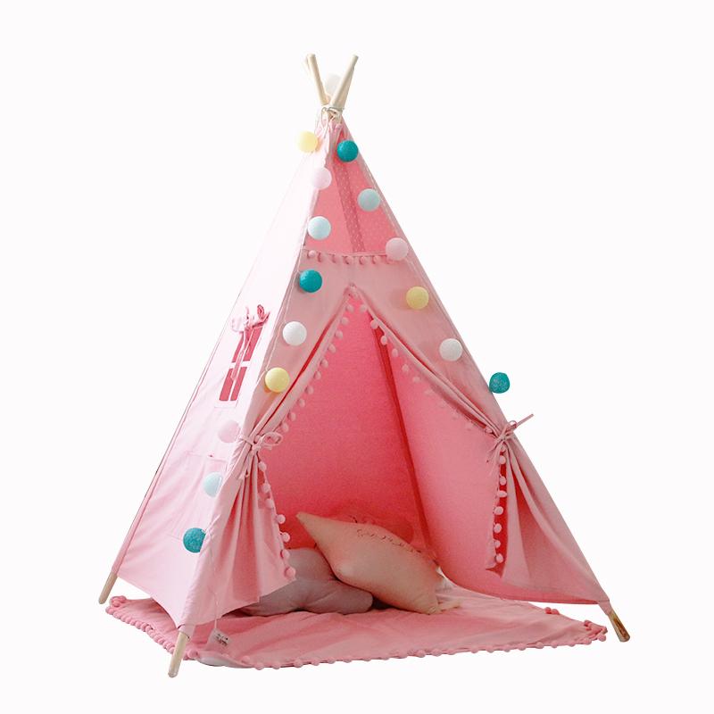 迈北彼儿童帐篷游戏屋宝宝家用印第安小帐篷室内公主屋女孩玩具屋