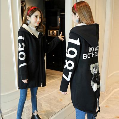 14-15-16岁女孩秋冬装初中学生棉服中长款加绒加厚棉衣羊羔绒外套