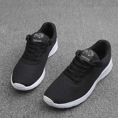 清仓特价超轻网面透气休闲鞋 经典黑白健步鞋 慢跑鞋 低帮情侣鞋