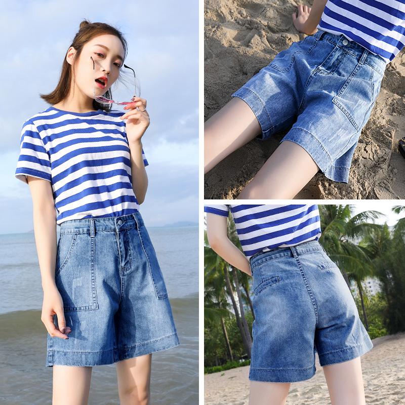 高腰短裤韩国