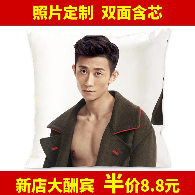 创意明星靠枕套含芯沙发床头靠垫 来图定制DIY个性 抱枕 张一山同款