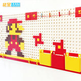 Pixel hole plate storage rack children's room wall decoration creative hand rack wall free punching wall hanging kindergarten