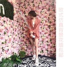 饰植物墙网红花墙玫瑰花墙绢花 仿真花墙背景墙婚礼开业商场室内装