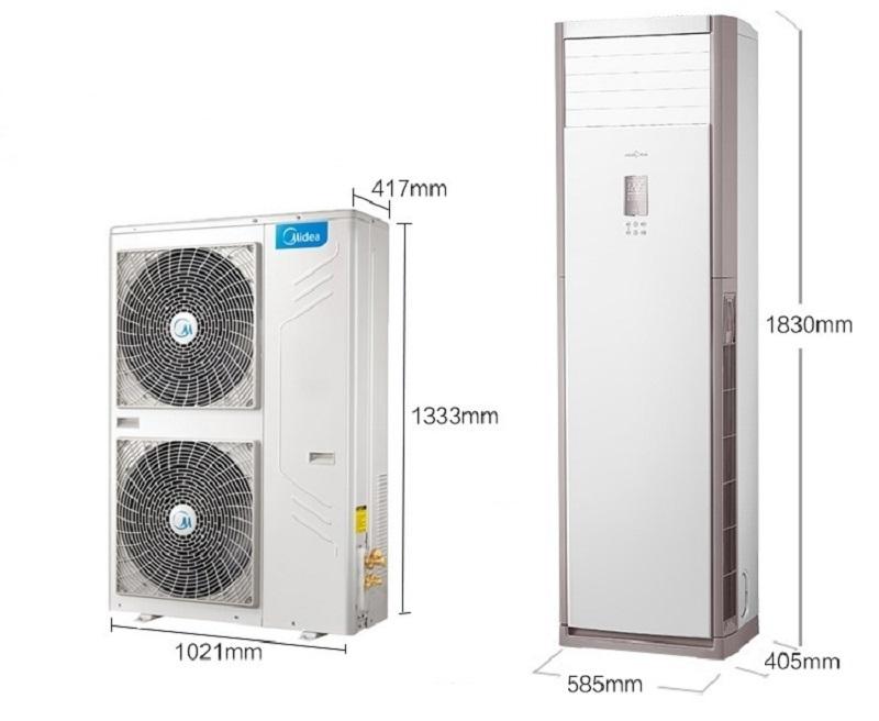 美的冷静星大5匹P商用柜机立式120LW/SDY-PA400(D3)冷暖空调380V