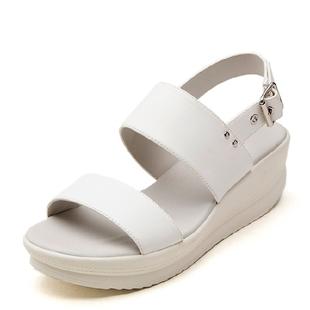达芙妮旗下shoebox鞋柜英伦摇摇鞋罗马风女凉鞋1115303003