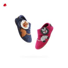 幼儿园玩耍卡通保暖透气483078 HAFLINGER德国进口Lion儿童羊毛鞋