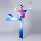 Classical performance costume female Yangko Dance Dress Chinese new waist drum fan Costume National Yangko suit