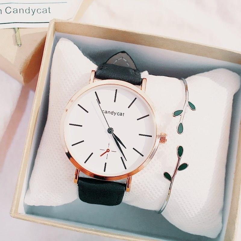 【手表手镯套装】韩版女学生简约复古休闲文艺小清新手表