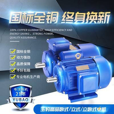 三相异步电动机380v 单相电机220v小型两相7.5kw1.5千瓦调速马达