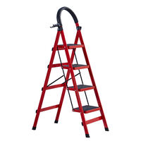 Ladder household folding ladder thickening multi-function ladder ladder climbing telescopic stairs four-step five-step ladder indoor escalator