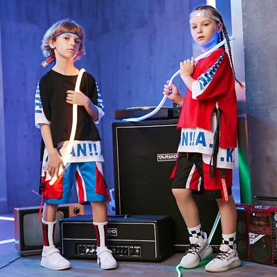 2018新款少儿街舞服装儿童街舞套装男童嘻哈女童爵士舞潮装演出服