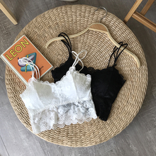 Xin Bang Bang bra retro lace hook flower underwear female 2018 summer cute tube top strap thin section wrapped chest student