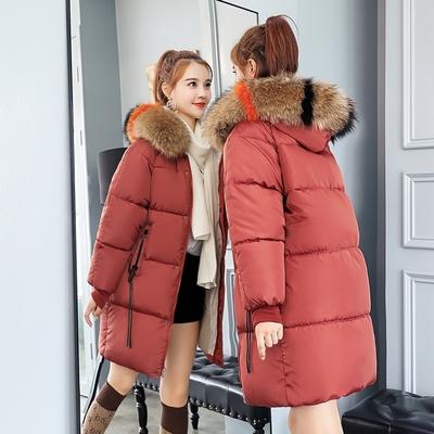 冬季韩版宽松大毛领羽绒棉服女2018新款棉衣时尚显瘦保暖棉袄外套