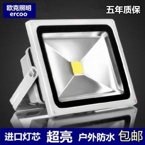 LED投光灯投射灯10w20w30w50w防水户外灯室外广告灯100w泛光路灯