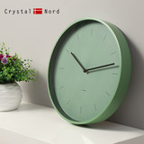 Crystal Nord full green scale mute creative wall clock modern ins simple Nordic living room trend