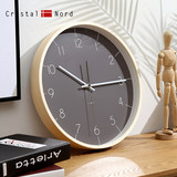 Crystal Nord Morandi wall clock living room simple home quiet fashion art atmosphere wood wall charts