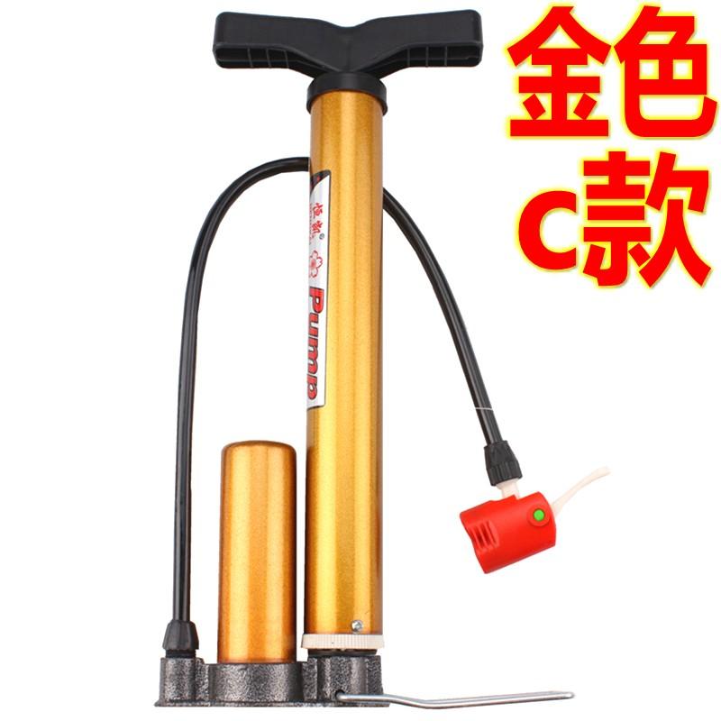 上新特价 打气筒 自行车电动车 高压便携  铸铁底座 内外钢管气筒