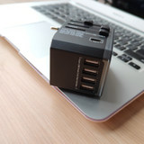 Global universal high power conversion plug WWW travel outlet abroad USB charger Europe Japan British standard