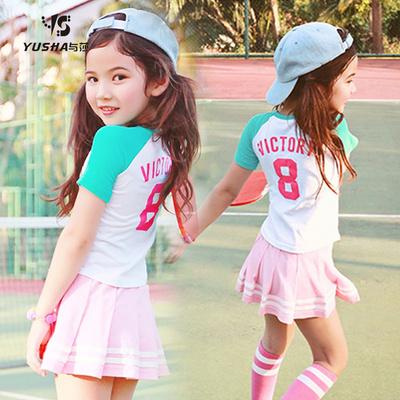 女童夏装2018新款韩版时尚时髦套装中大童运动休闲两件套洋气潮衣