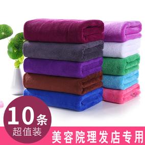 10条装 美容院理发店包头干发毛巾专用发廊美发超强吸水毛巾批发