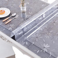 Soft plastic glass transparent table mat PVC tablecloth waterproof anti-scalding oil-free disposable coffee table cloth thick crystal plate