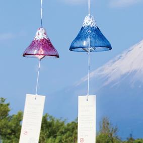 [玻璃王]现货 日本 石塚硝子ADERIA津轻手工玻璃风铃富士山风铃