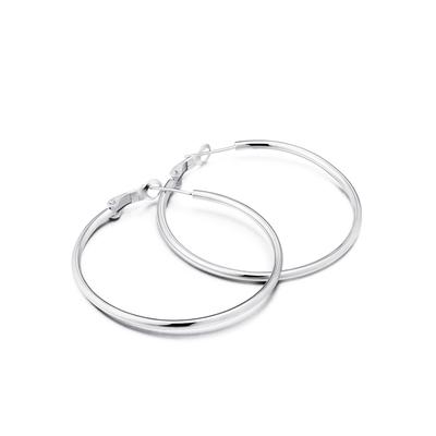 別制 925银韩版耳钉纯银大耳环欧美夸张耳圈大圈圈送女友个性银饰