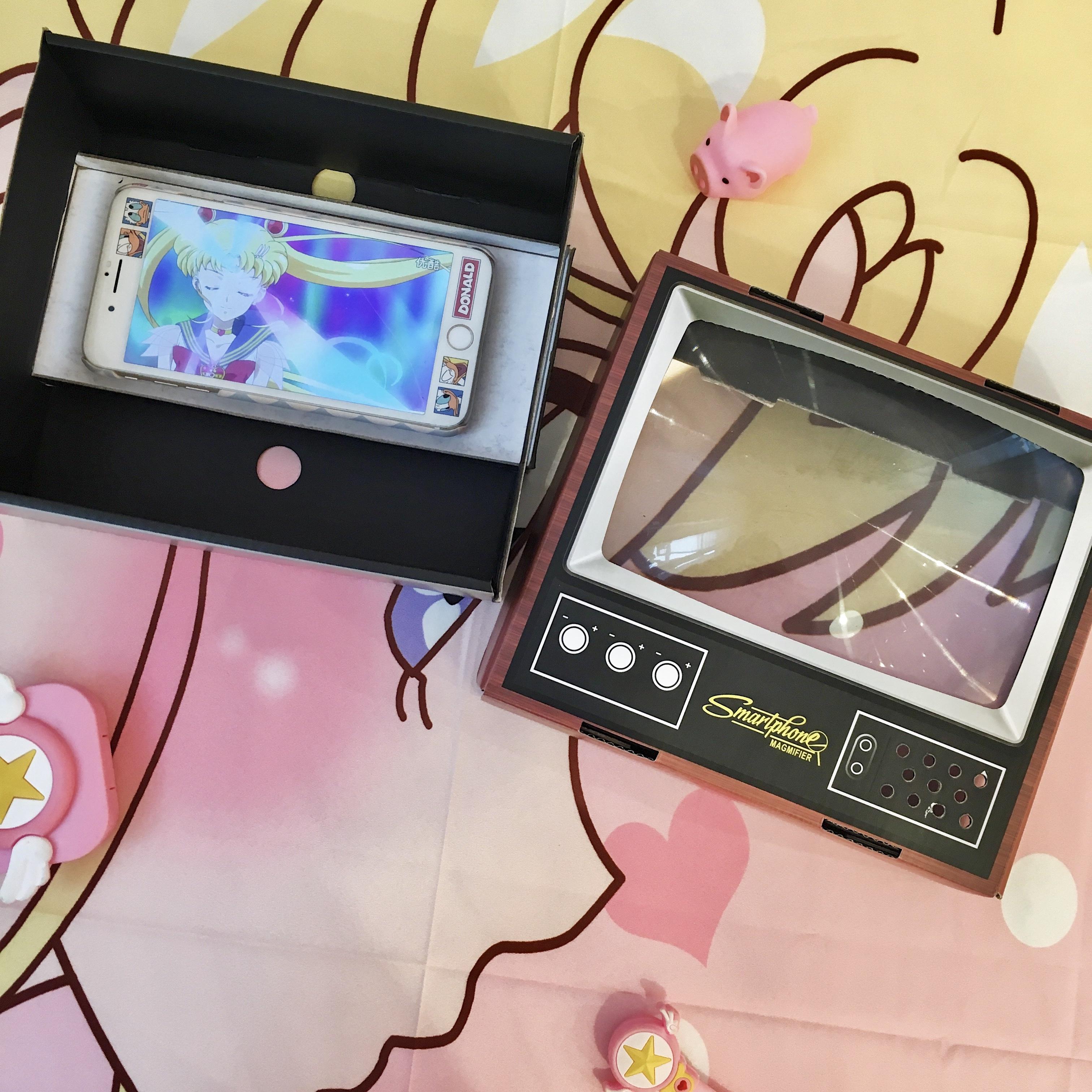 少女心放映室 复古纸质电视机手机屏幕放大器 DIY手工玩具摆件