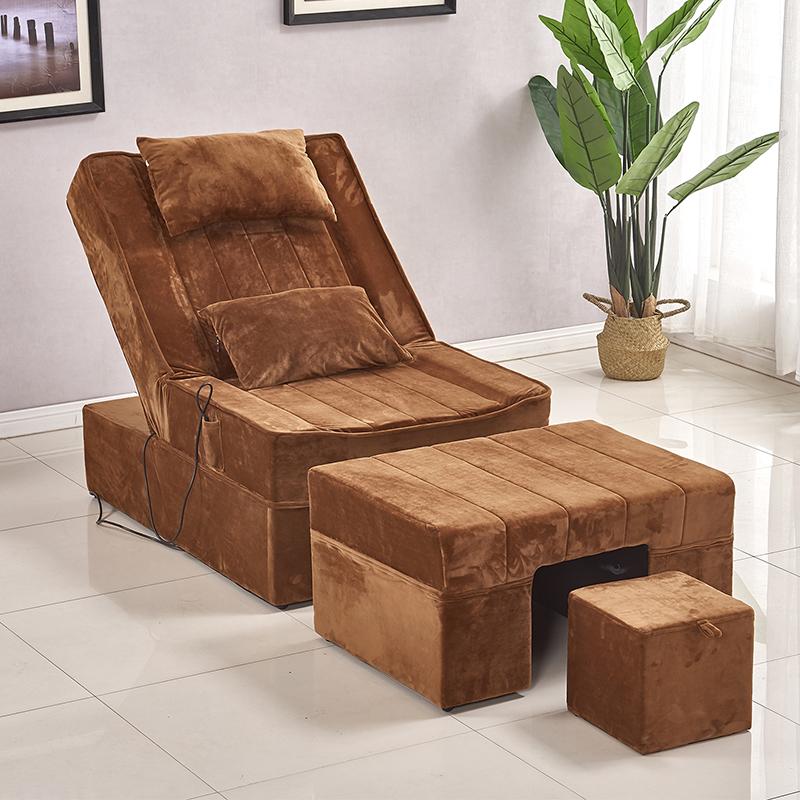 电动足浴足疗床美甲沙发浴室浴场休闲桑拿洗脚沐足按摩椅美容躺椅