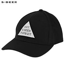 sdeer圣迪奥休闲潮流字母印胶撞色拼接棒球帽S18483691图片
