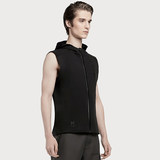 United States HOTSUIT authentic men's slim fashion casual sports vest hooded running sleeveless vest cardigan