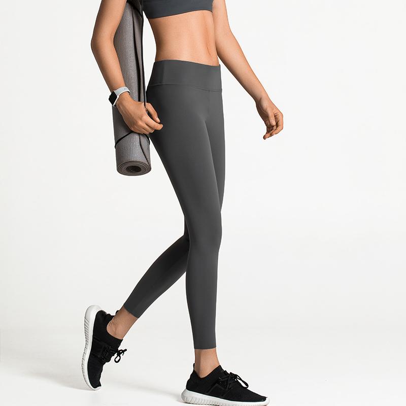 VFU高弹力训练健身裤速干裤跑步压缩长裤紧身运动裤九分瑜伽裤女