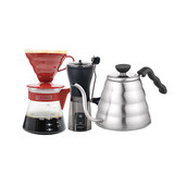 Household HARIO V60 drip coffee maker set type hand punch hand punch coffee maker hand grinder 6 sets