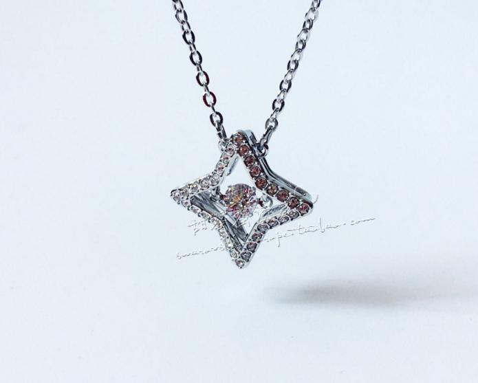 联保施华洛世奇专柜正品跳动心星星水晶项链 5349654