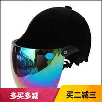 永盛牌男女式防紫外线夏盔马术头盔骑马头盔 摩托车电动车半盔