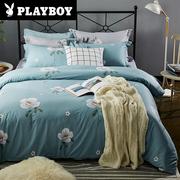 花花公子四件套全棉纯棉1.5/1.8m床单被套2.0双人三件套床上用品