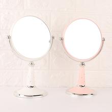 少女心化妆镜台式简约大号公主镜双面镜放大 镜子书桌宿舍梳妆镜