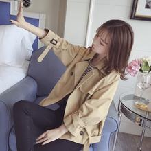 短款外套女春秋季2018新款韩版百搭学生bf原宿宽松夹克女士小风衣