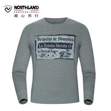 诺诗兰NORTHLAND秋冬户外男士休闲运动长袖T恤GL065651