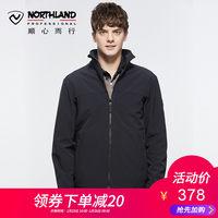 诺诗兰2018秋冬新款软壳衣户外男士保暖防泼水外套GF075X03