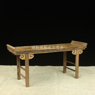 鸡翅木实木小条案微型家具摆件工艺品底座小供桌佛像底座